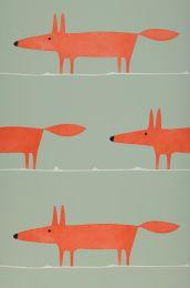 Papel de parede What does the Fox say vermelho