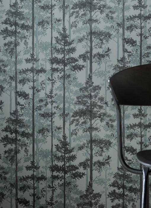 Papel pintado Valira Mate Árboles Tonos de gris