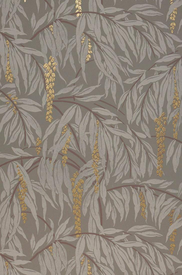Papel pintado maringa gris cuarzo oro perla marr n for Papel pintado marron chocolate