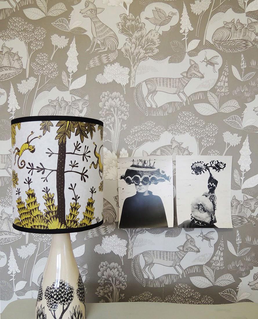 fox family beigegrau cremeweiss grauweiss hellgraubeige tapeten neuheiten tapetenmuster. Black Bedroom Furniture Sets. Home Design Ideas