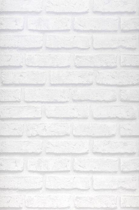 Papel de parede estilo industrial Papel de parede City Brick branco acinzentado Largura do rolo