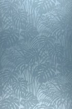 Wallpaper Persephone Shimmering Palm fronds Light blue Pastel blue glitter