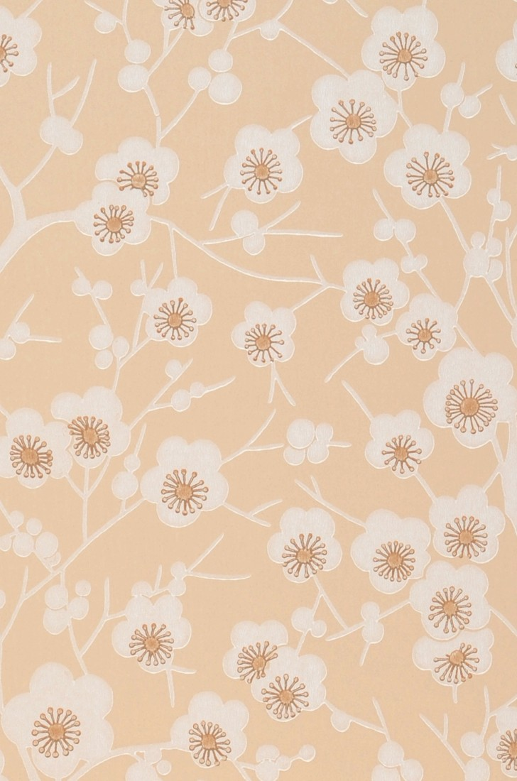 Wallpaper Laila Light Beige Brown Cream Wallpaper From The 70s