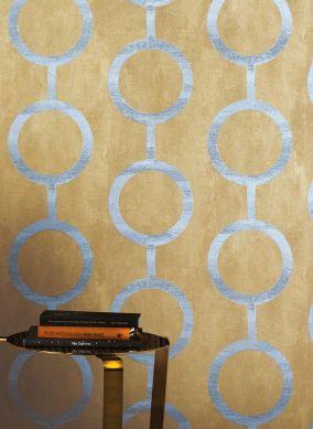 Wallpaper Florin matt gold Room View