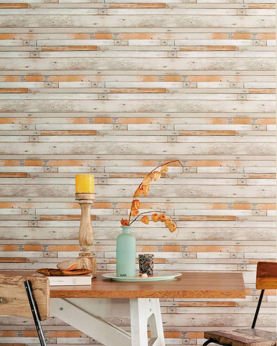 tapete shabby planks beigegrau cremeweiss grauweiss. Black Bedroom Furniture Sets. Home Design Ideas