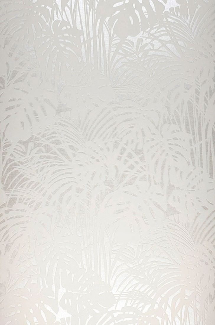 Persephone crema blanco crema papel pintado flocado - Papeles pintados de los 70 ...