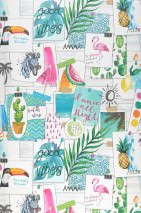 Wallpaper Remember Last Holiday Matt Photos Plants Animals Words Grey white Green Magenta glitter Orange Pink Turquoise