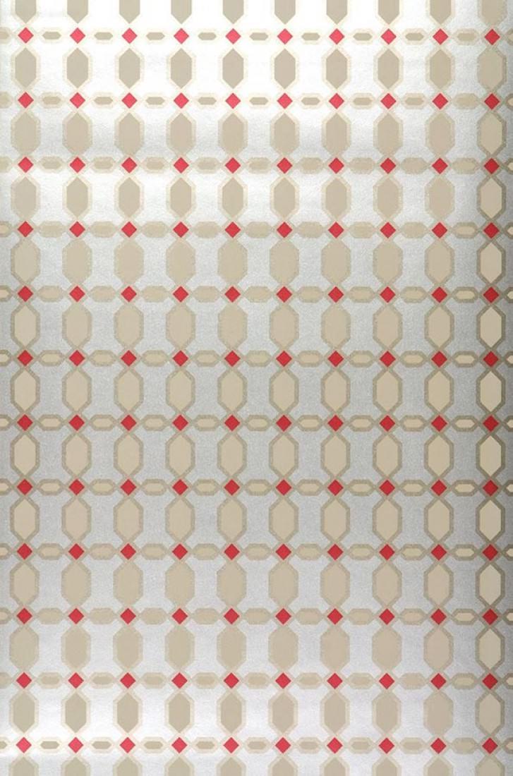 Tapete diamonds silber beige gold rot tapeten der 70er for Tapete rot silber