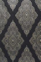 Wallpaper Azita Matt Modern damask Black Gold Pearl beige