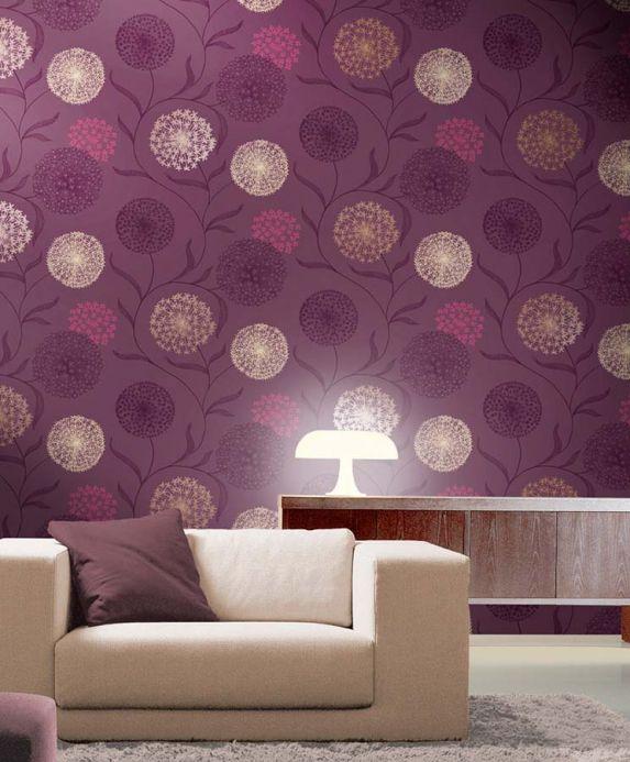 Archiv Wallpaper Ganesha dark violet Room View