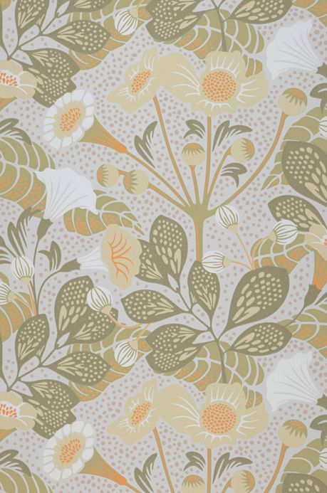 Floral Wallpaper Wallpaper Ancasi olive yellow Roll Width