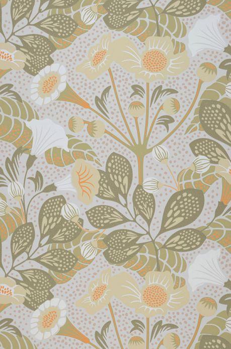 Papier peint floral Papier peint Ancasi jaune olive Largeur de lé