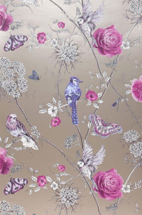 Romantic wallpaper Wallpaper Mariola violet Roll Width