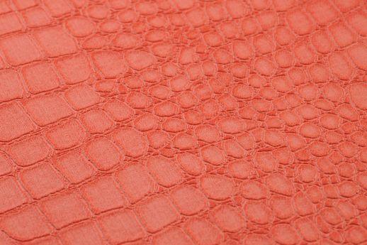 Papier peint Caiman orange saumon Vue détail
