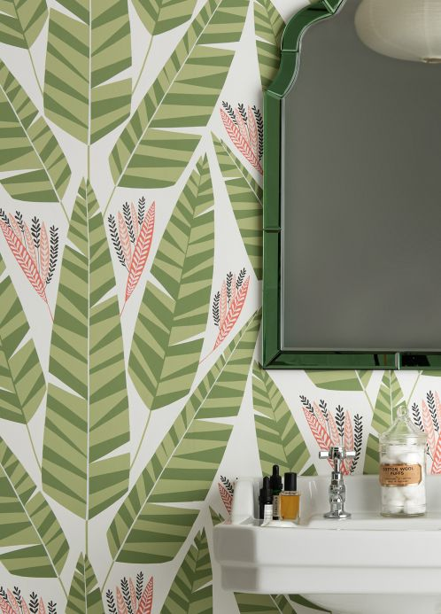 Design Wallpaper Wallpaper Jungle reseda-green Room View
