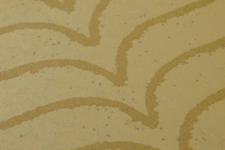 Papel pintado lovida beige verdoso marr n verdoso - Papel pintado de los 70 ...