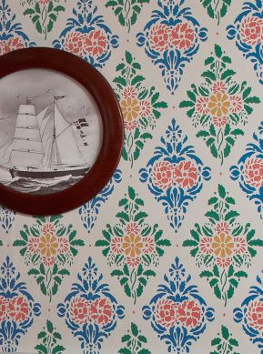 Papier peint Loreley bleu brillant Vue pièce