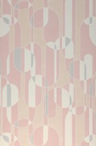 Wallpaper Asenio Matt Graphic elements White Cream Light beige Light grey Light pink