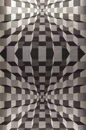 Papel de parede Illusion cinza prateado