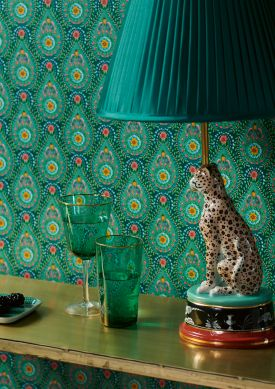 Wallpaper Imaginarium dark green Raumansicht
