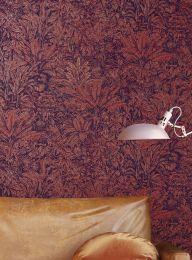 Papel de parede Tropicalia vermelho marrom