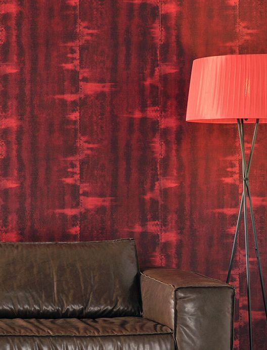 Archiv Wallpaper Fedon brown red Room View