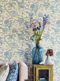 Wallpaper Gelava pastel blue