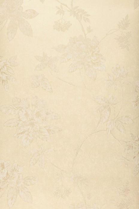 Wallpaper Tacita Matt pattern Shimmering base surface Leaves Blossoms Branches Light ivory Cream shimmer Cream