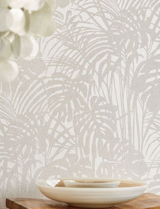 Glass bead Wallpaper Wallpaper Persephone silver grey glitter Room View