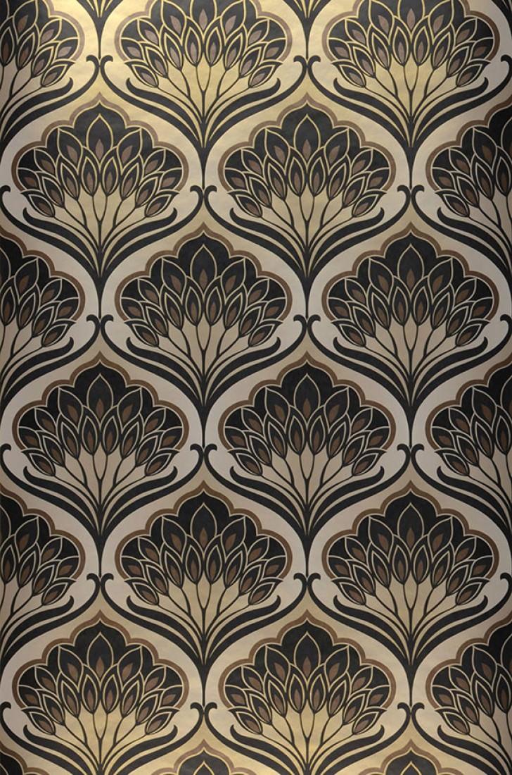 papier peint perdula beige gris brun noir papier peint des ann es 70. Black Bedroom Furniture Sets. Home Design Ideas