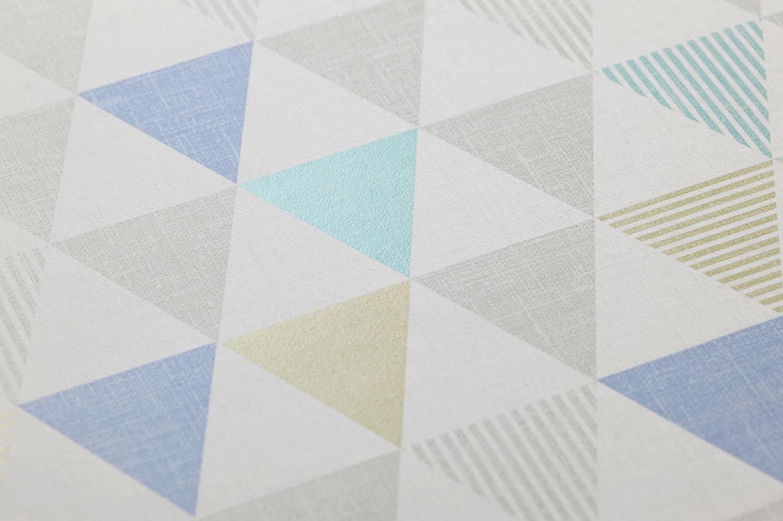 Zenem blanco gris ceo azul gris amarillo verdoso - Papel pintado de los 70 ...