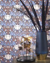 Papel pintado Marina azul perla