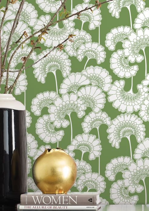 Archiv Wallpaper Ornate grass-green Room View