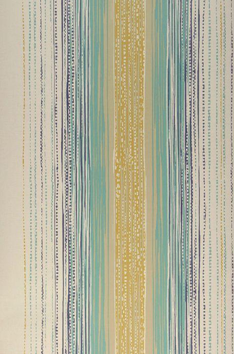 Archiv Papier peint Artenas jaune ocre Largeur de lé