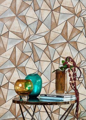 Wallpaper Mirage brown tones Raumansicht
