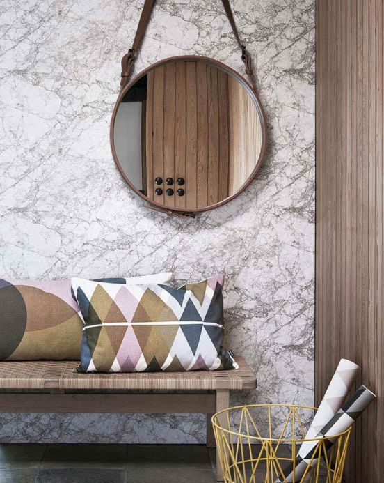 Stone Wallpaper Wallpaper Marble beige grey Room View