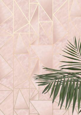 Wallpaper Fantasque pale pink Raumansicht