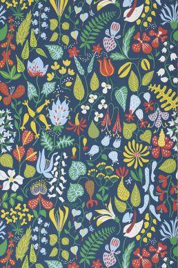 Papier peint Eurynome vert jaune Largeur de lé