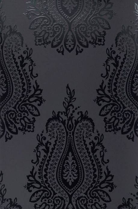 Archiv Wallpaper Carbacan black lacquer Roll Width
