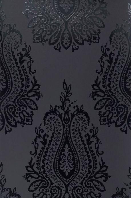Archiv Papier peint Carbacan noir laque Largeur de lé