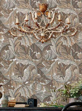 Papier peint Patagonia brun gris Vue pièce
