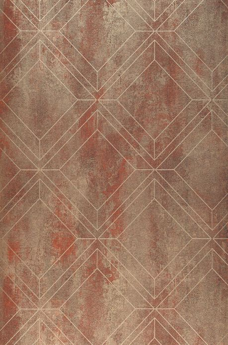 Geometric Wallpaper Wallpaper Malekid copper brown Roll Width