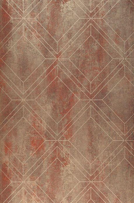 Papier peint Papier peint Malekid brun cuivré Largeur de lé