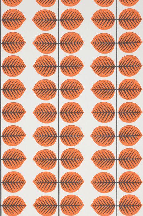 Papel de parede botânico Papel de parede Leonarda laranja Detalhe A4