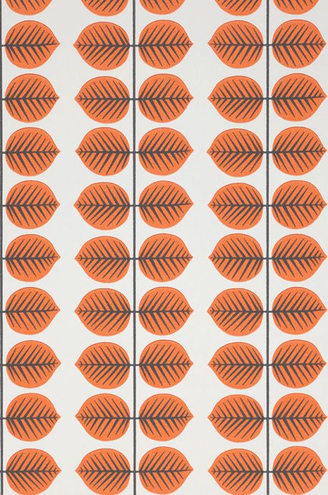 Vintage Wallpaper Wallpaper Leonarda orange A4 Detail