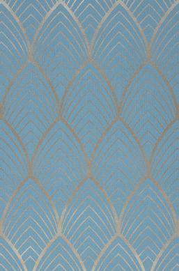 Papel pintado Soana azul claro Detalle A4
