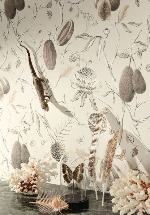 Modern Wallpaper Wallpaper Morada grey white Room View