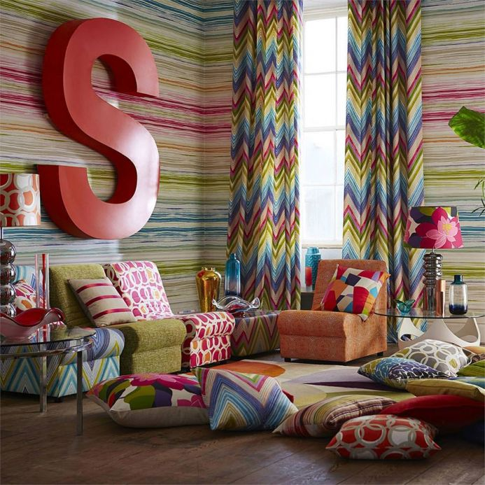 Striped Wallpaper Wallpaper Cosima pink Room View