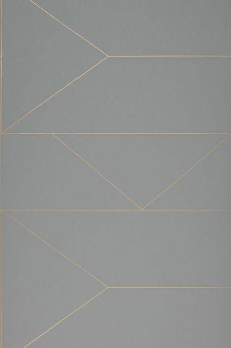 Carta da parati geometrica Carta da parati Lines grigio Larghezza rotolo