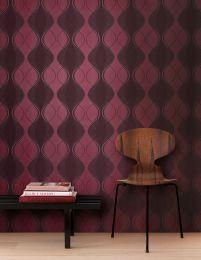 Papel pintado Opoga rosa pastel brillante